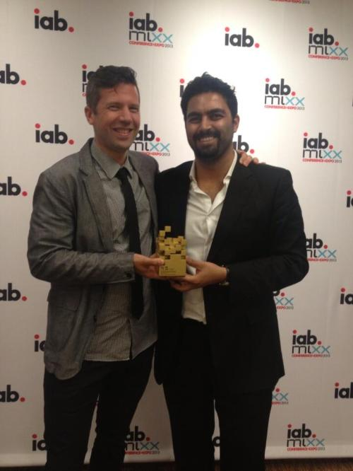 Tim and Emad at IAB Mixx Awards