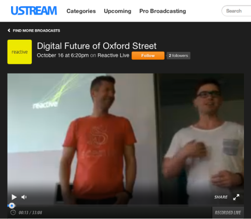 Our workshop on Ustream